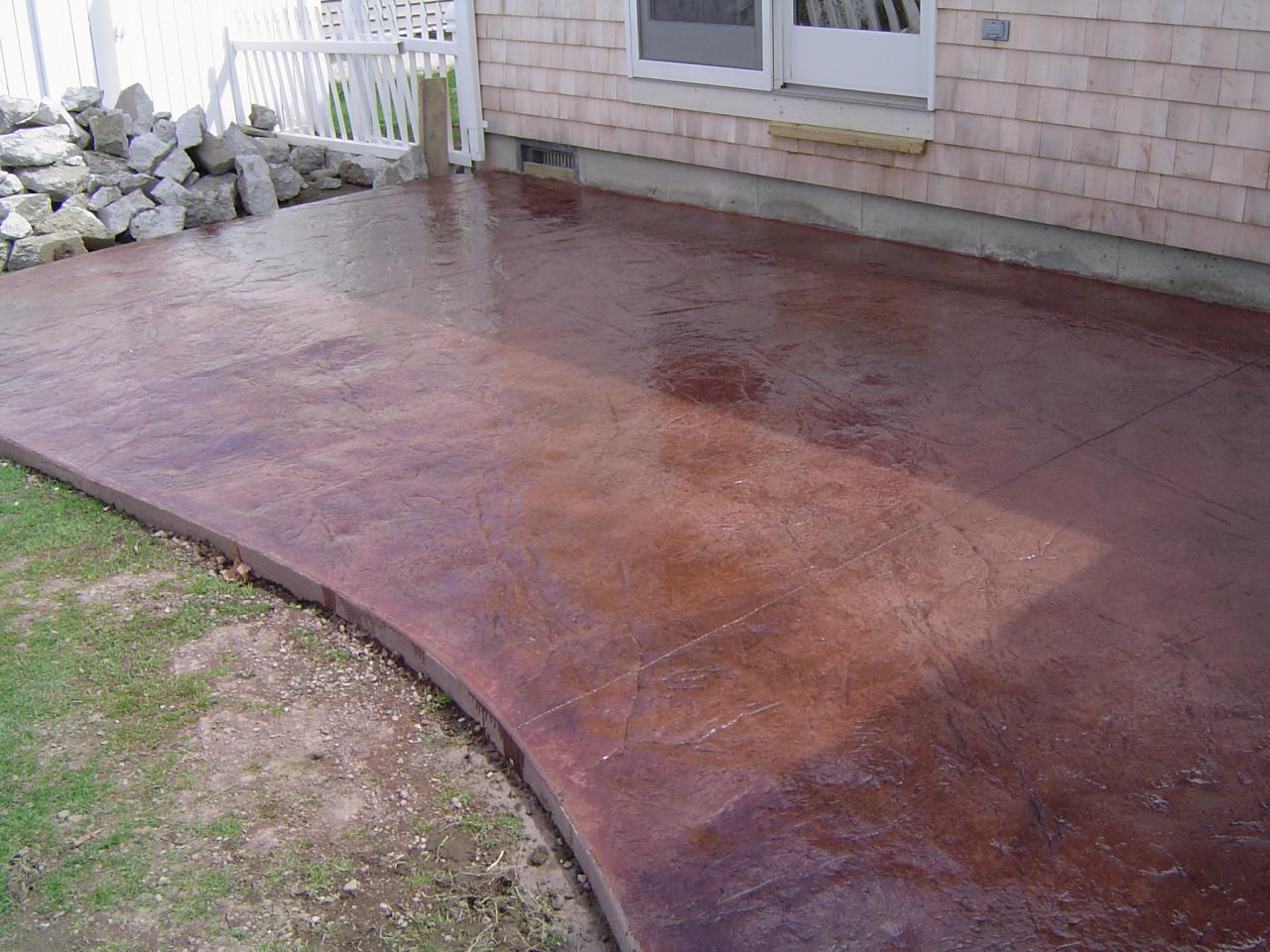 Artistic Concrete Stamped And Stained Concrete Patios