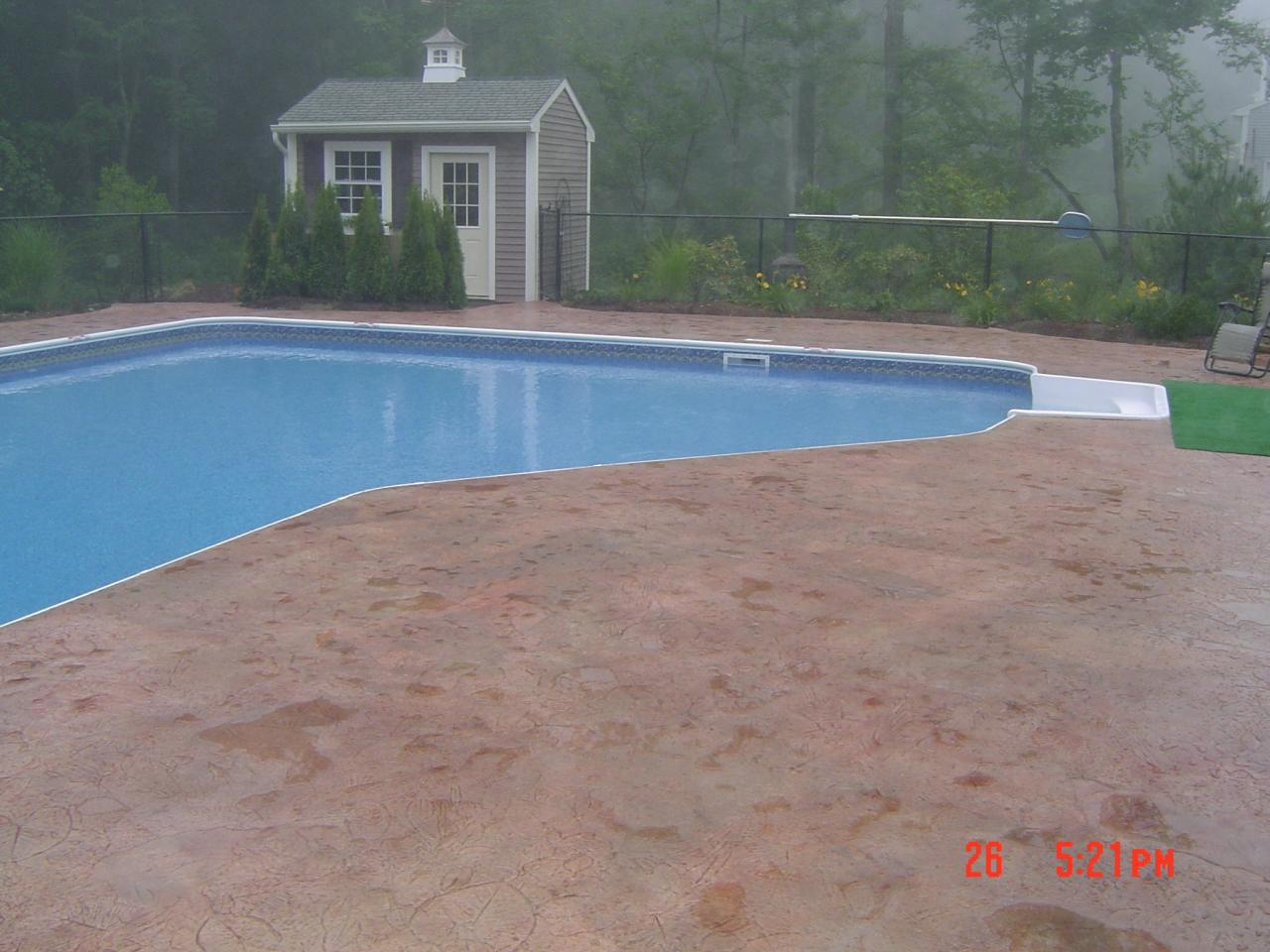 Concrete Pool Deck Finishes Artistic Concrete  Stamped Concrete Pool Aprons Pool Decks Rhode